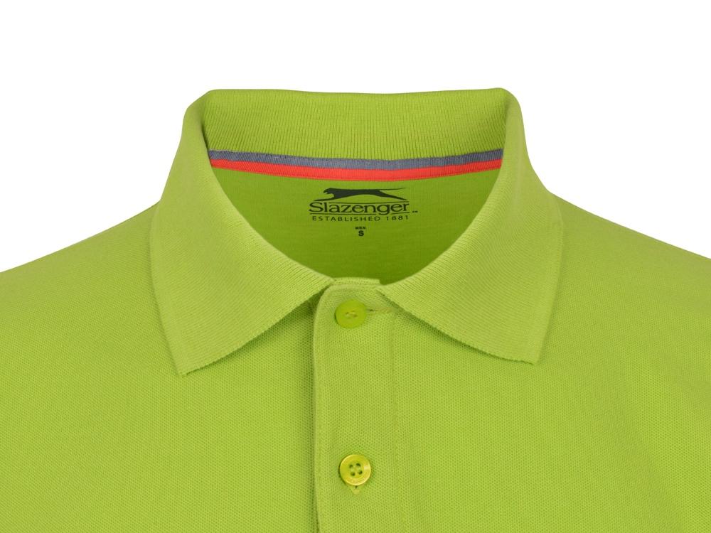 Рубашка поло Point мужская с длинным рукавом, зеленое яблоко