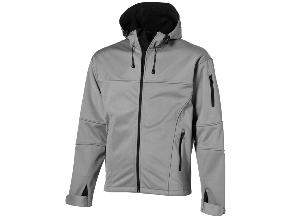 Куртка софтшел Match мужская, серый/черный