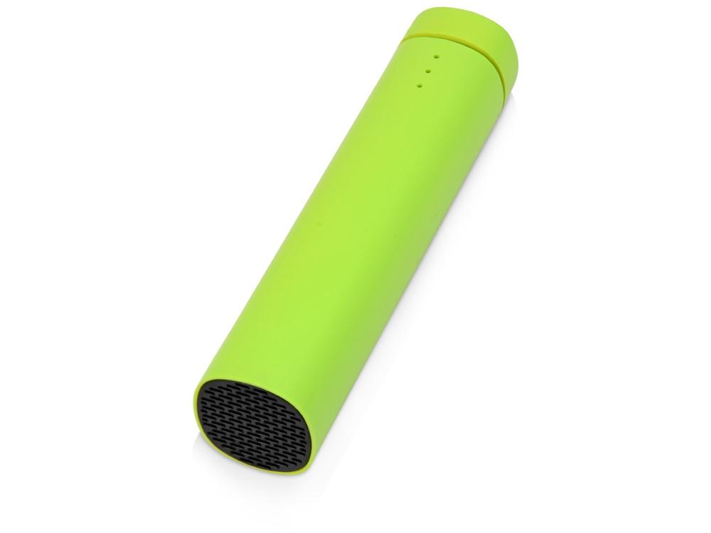 Портативное зарядное устройство Мьюзик, 5200 mAh, зеленое яблоко