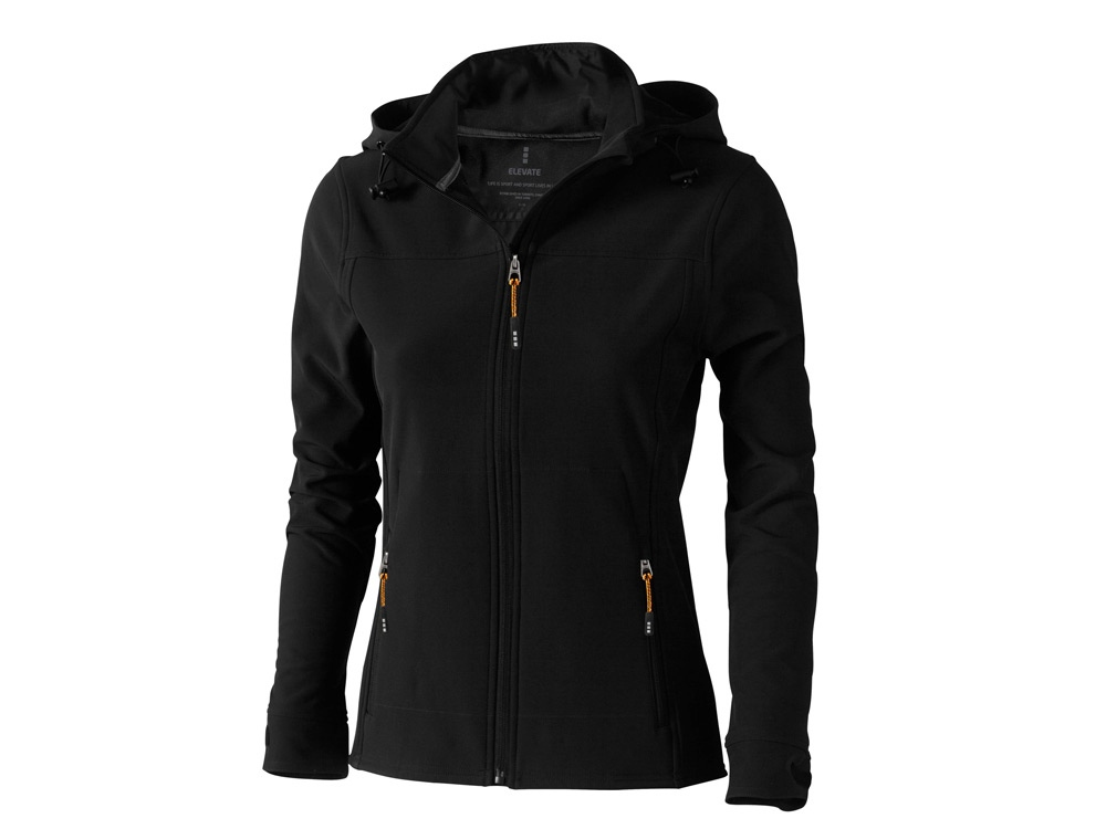 Куртка софтшел Langley женская, черный