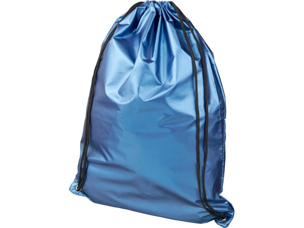 Блестящий рюкзак со шнурком Oriole, светло-синий