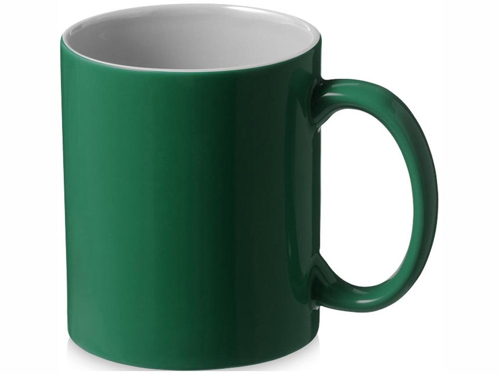 Кружка керамическая Java, зеленый/белый