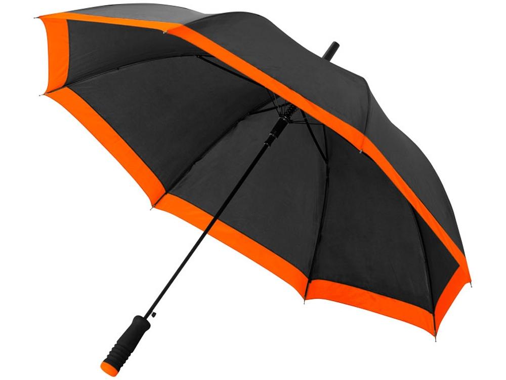 Зонт-трость Kris 23 полуавтомат, черный/оранжевый