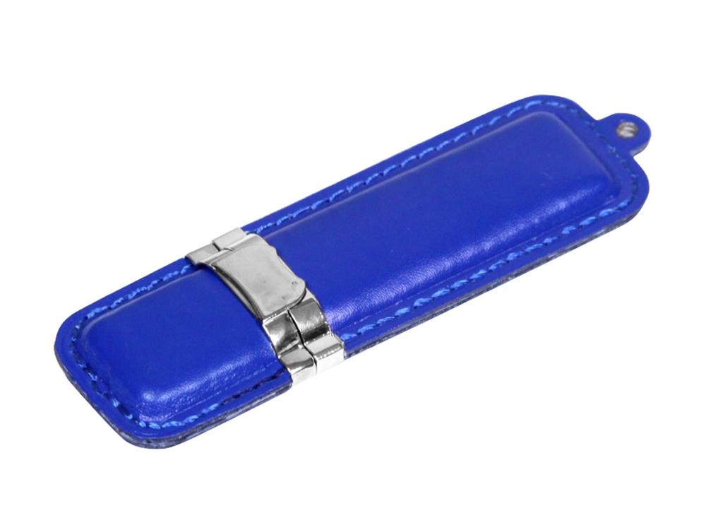 Флешка классической прямоугольной формы, 16 Гб, синий