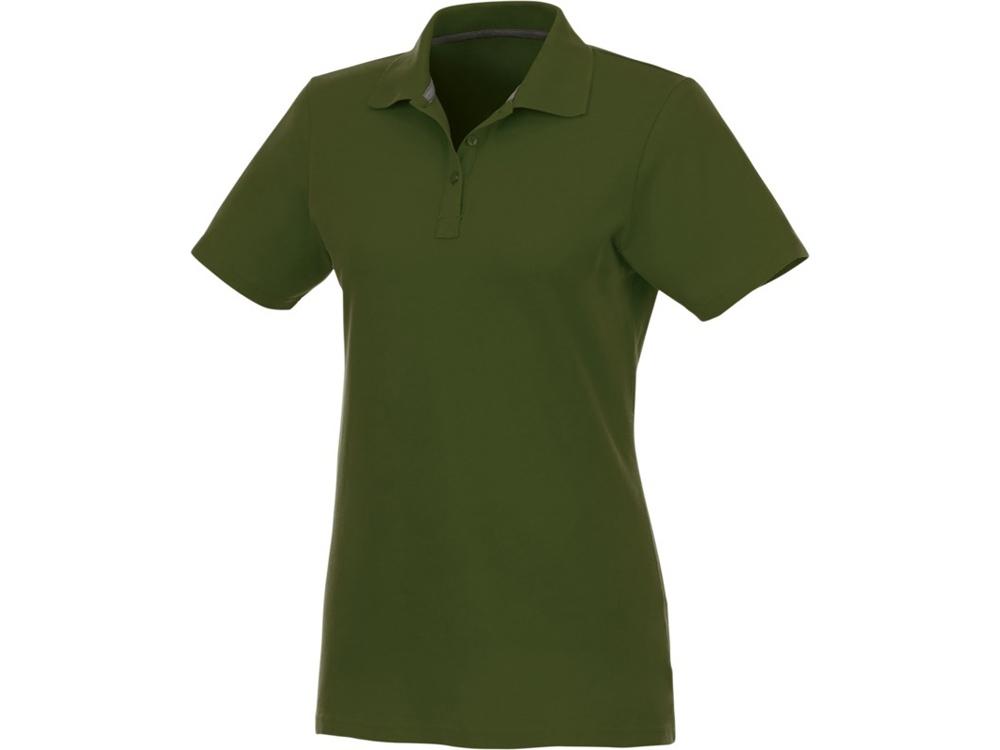 Женское поло Helios с коротким рукавом, зеленый армейский