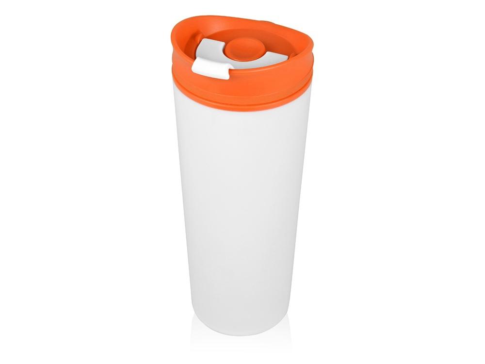 Термокружка Brite 500мл, белый/оранжевый