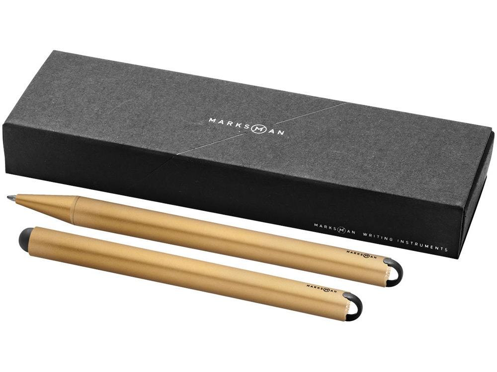 Набор пишущих инструментов Radar: ручка шариковая и стилус, медный