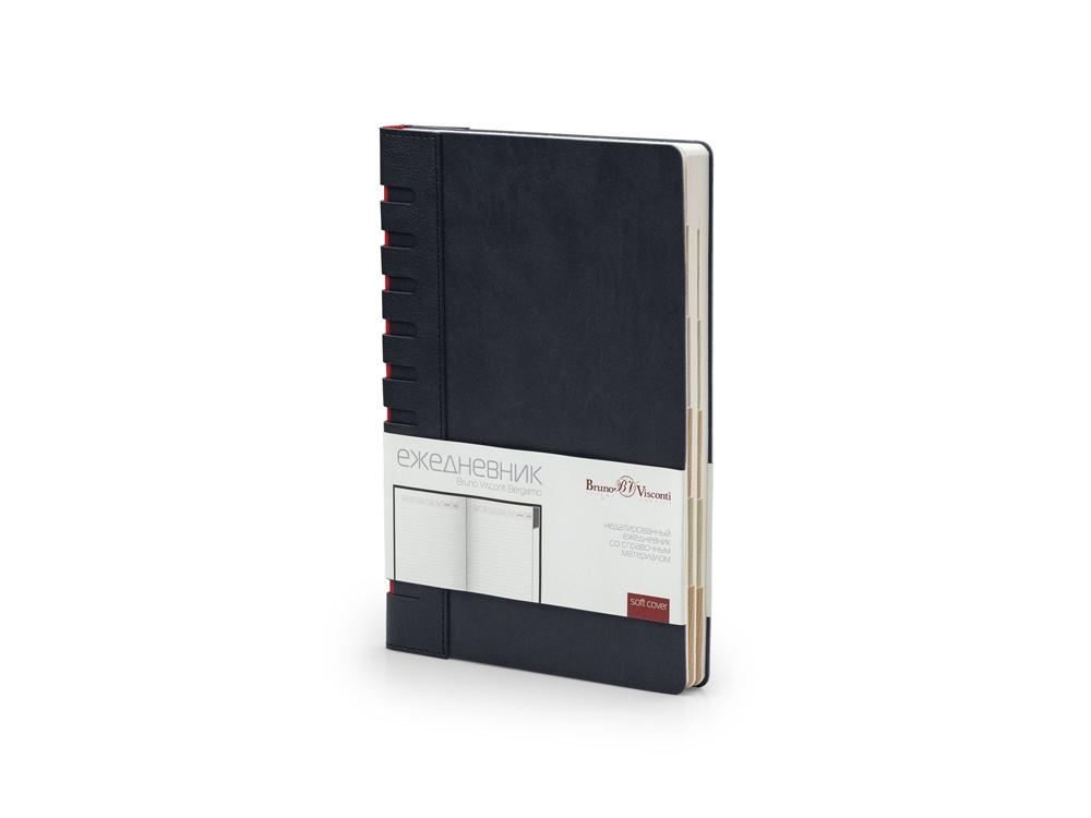 Ежедневник недатированный с индексами А5 Bergamo, черный