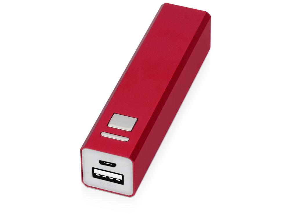 Портативное зарядное устройство Спейс, 3000 mAh, красный