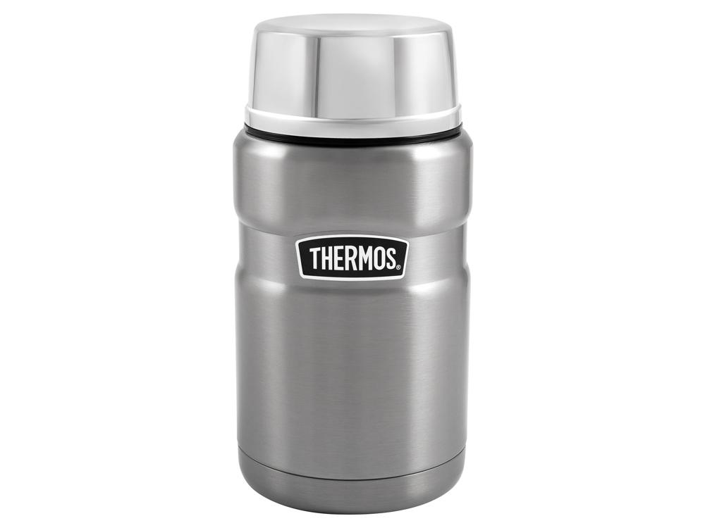 Термос из нерж. стали с ложкой тм THERMOS SK3020ST 0,7L, стальной