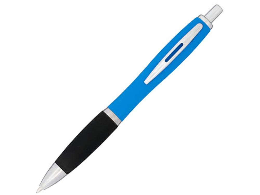 Прорезиненная шариковая ручка Nash, морская волна