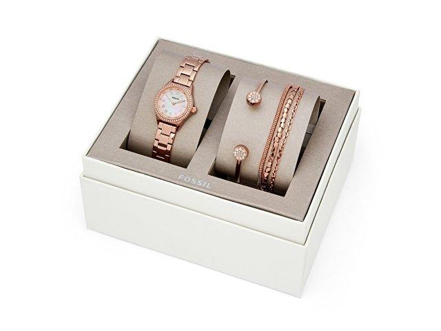 Подарочный набор: часы наручные женские, 4 браслета (арт. 29670)