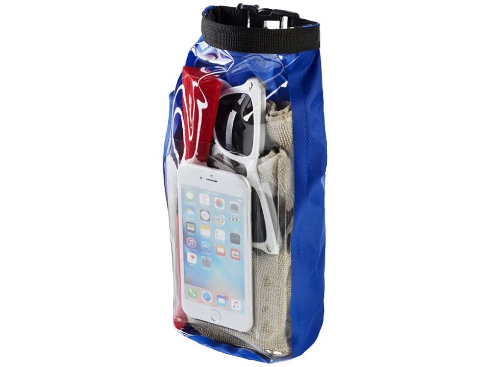 Туристическая водонепроницаемая сумка объемом 2 л, чехол для телефона, ярко-синий