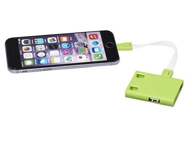USB Hub и кабели 3-в-1, лайм