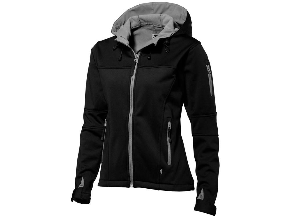 Куртка софтшел Match женская, черный/серый