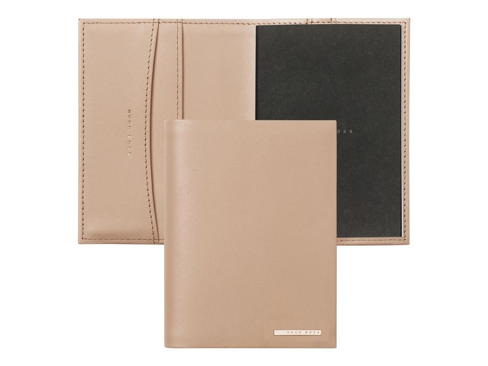 Обложка для блокнота А7 Essential. Hugo Boss, розовый