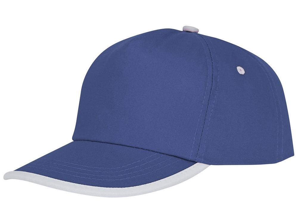 Пятипанельная кепка Nestor с окантовкой, синий/белый