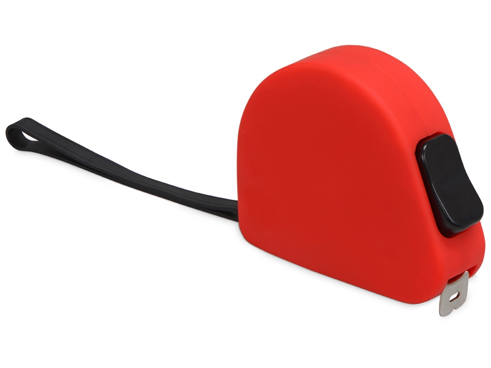 Рулетка 3м Meter, софт-тач, красный