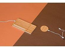 Беспроводное зарядное устройство-органайзер из бамбука «Timber» (арт. 590908), фото 7