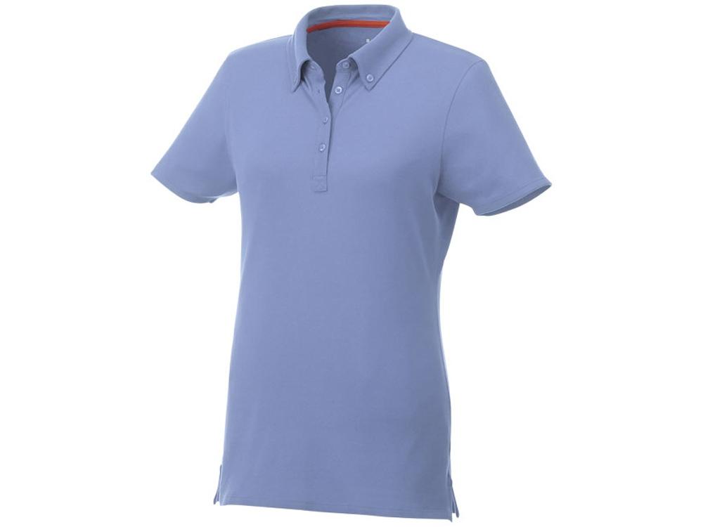 Женская футболка поло Atkinson с коротким рукавом и пуговицами, светло-синий