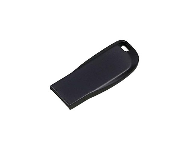 Флешка с мини чипом, компактный дизайн с овальным отверстием, 64 Гб, антрацит