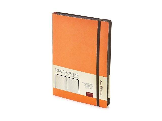 Ежедневник А5 недатированный «Megapolis Soft», оранжевый