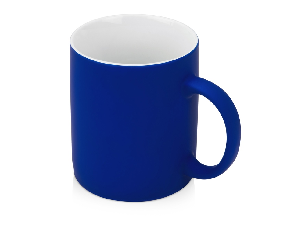 Кружка с покрытием soft-touch Barrel of a Gum, синий
