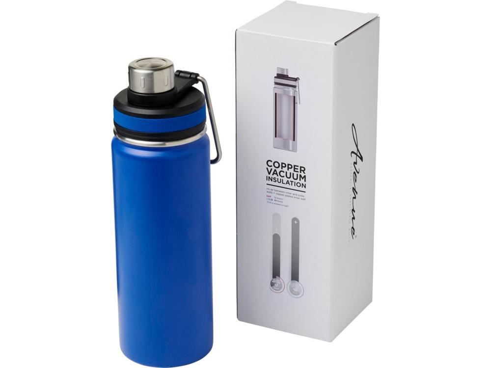 Спортивная бутылка Gessi объемом 590мл с медной вакуумной изоляцией, cиний