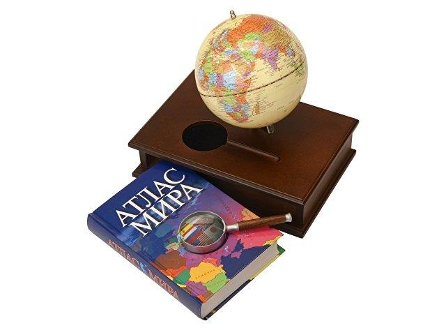 Настольный прибор «Магеллан»: глобус, лупа, атлас мира (арт. 624309)