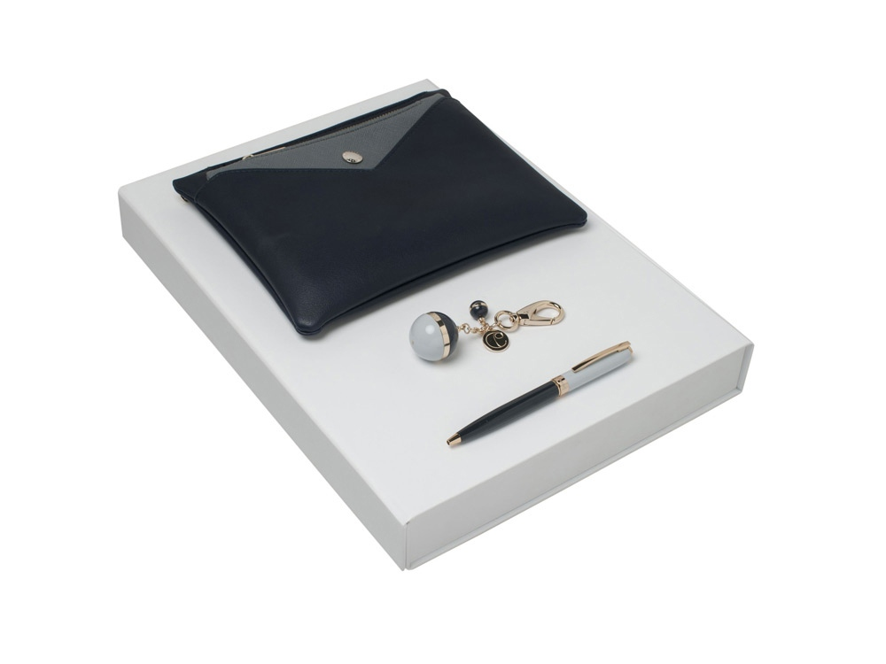 Подарочный набор Bird: брелок, ручка шариковая, сумка. Cacharel