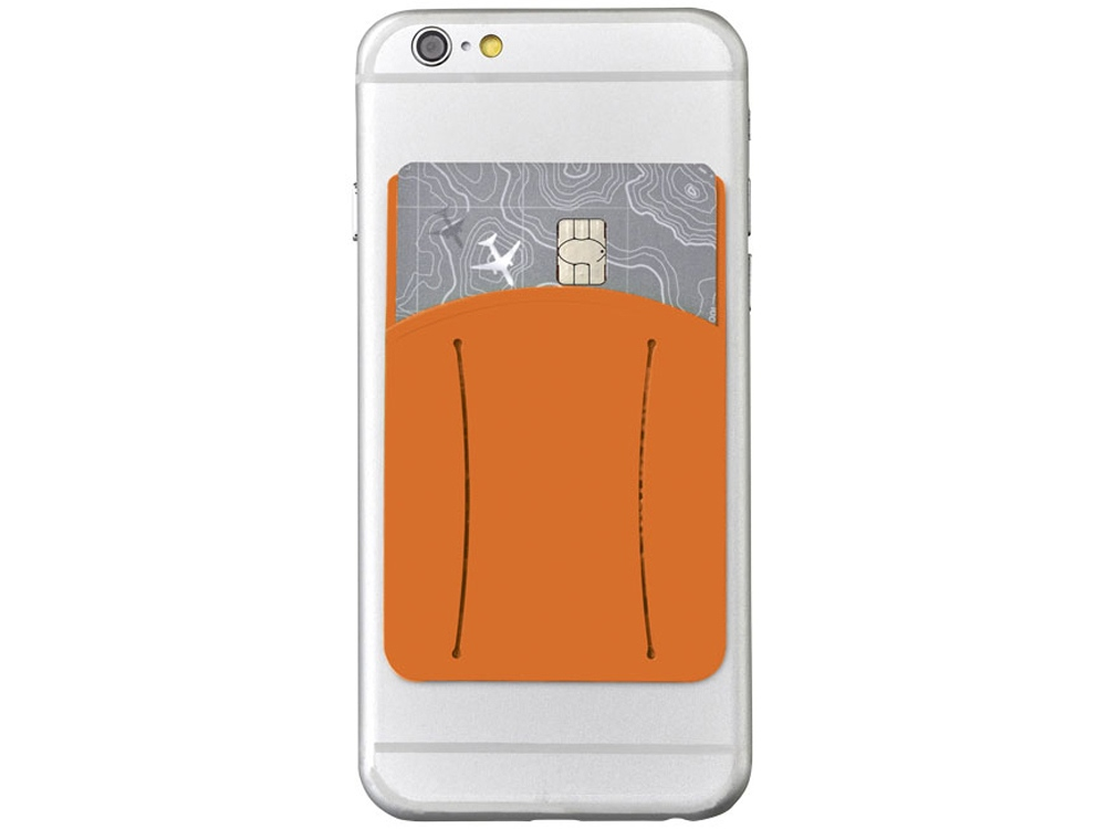 Картхолдер для телефона с отверстием для пальца, оранжевый