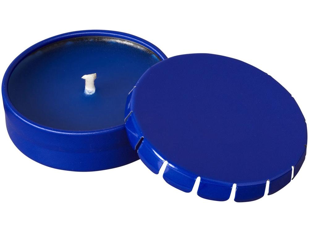 Свеча Bova в жестяной баночке, синий