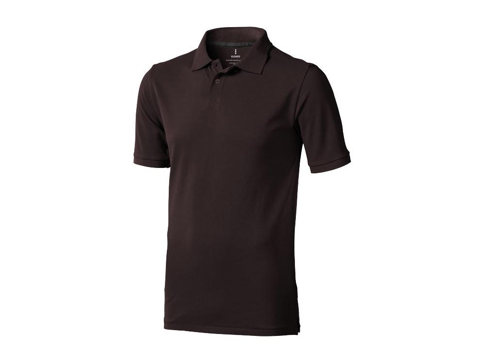 Рубашка поло Calgary мужская, шоколадный коричневый
