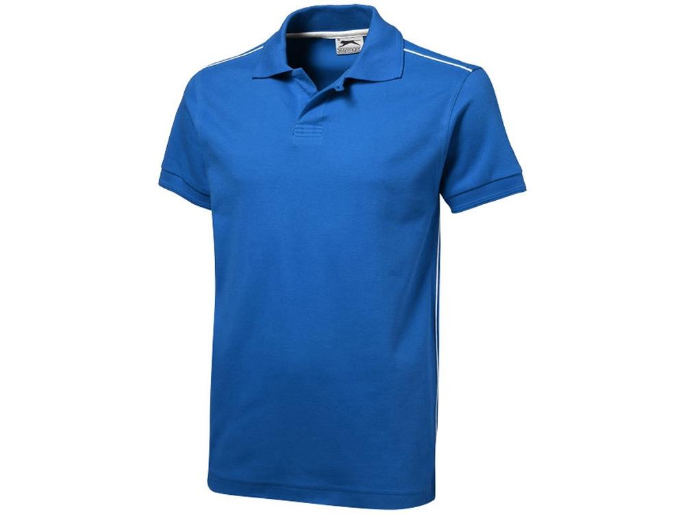 Рубашка поло Backhand мужская, небесно-синий/белый