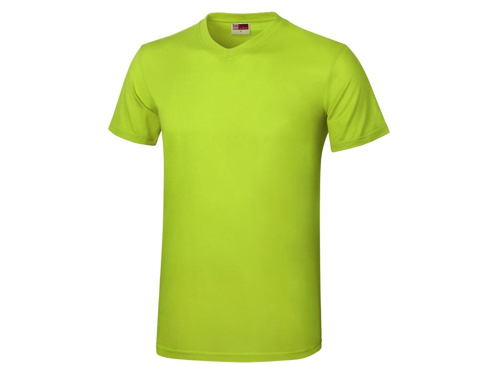 Футболка Heavy Super Club мужская с V-образным вырезом, зеленое яблоко