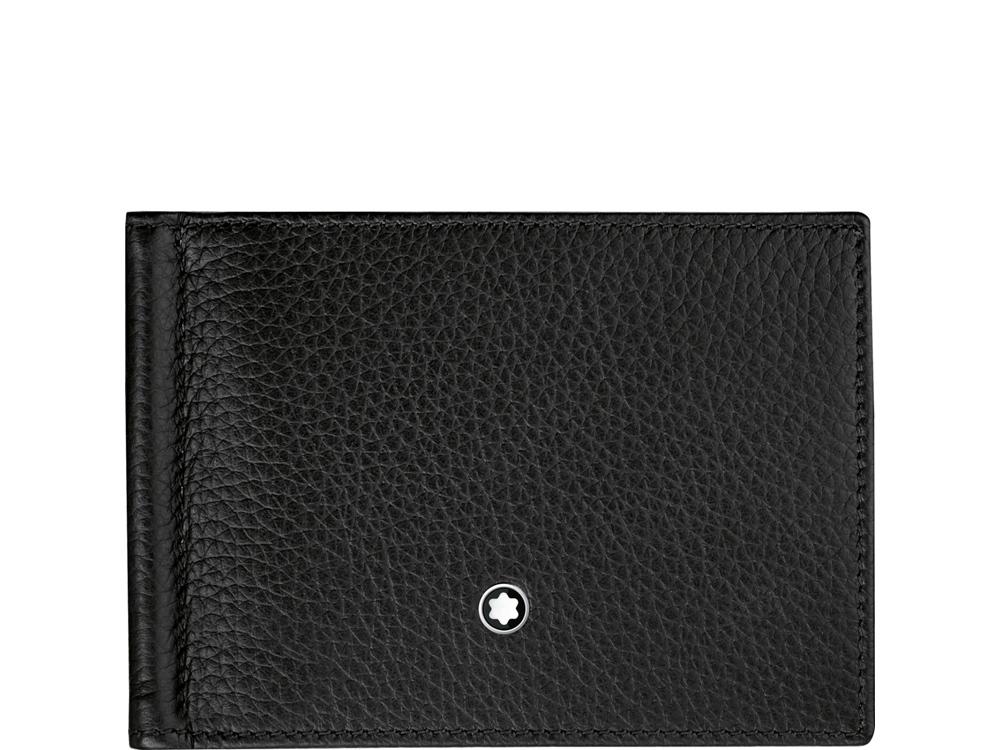Бумажник Meisterstück Soft Grain 6сс с зажимом для банкнот. Montblanc