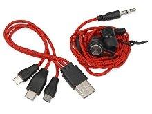 Набор «In motion» с наушниками и зарядным кабелем 3 в 1 (арт. 700901), фото 4