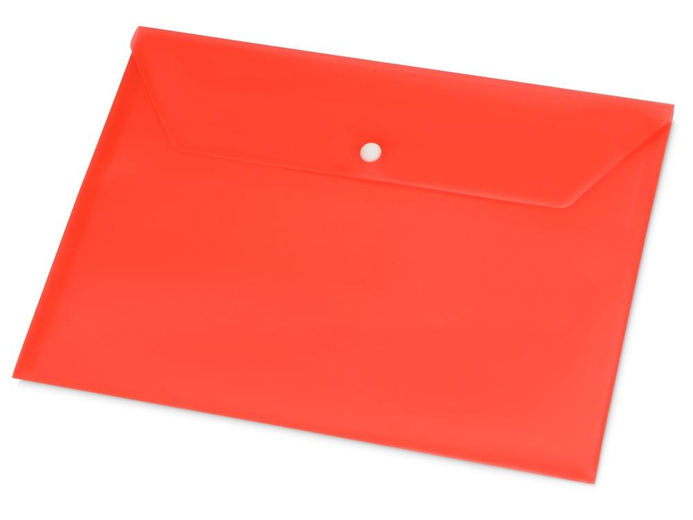 Папка-конверт А4 с кнопкой, красный
