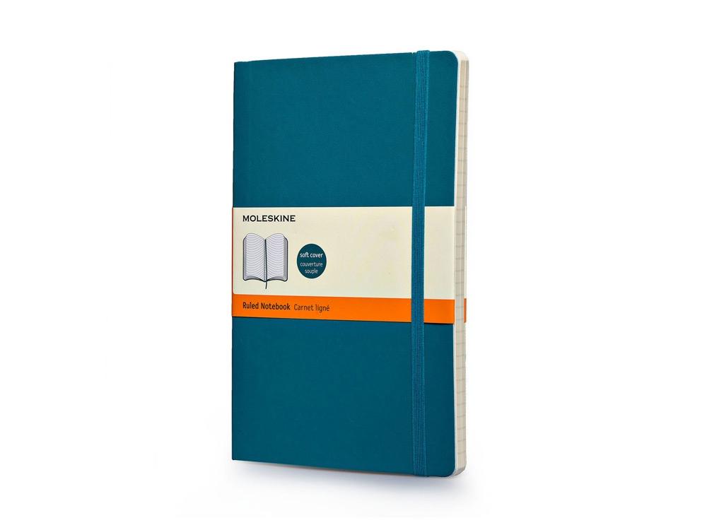 Записная книжка Moleskine Classic Soft (в линейку), Large (13х21см), бирюзовый