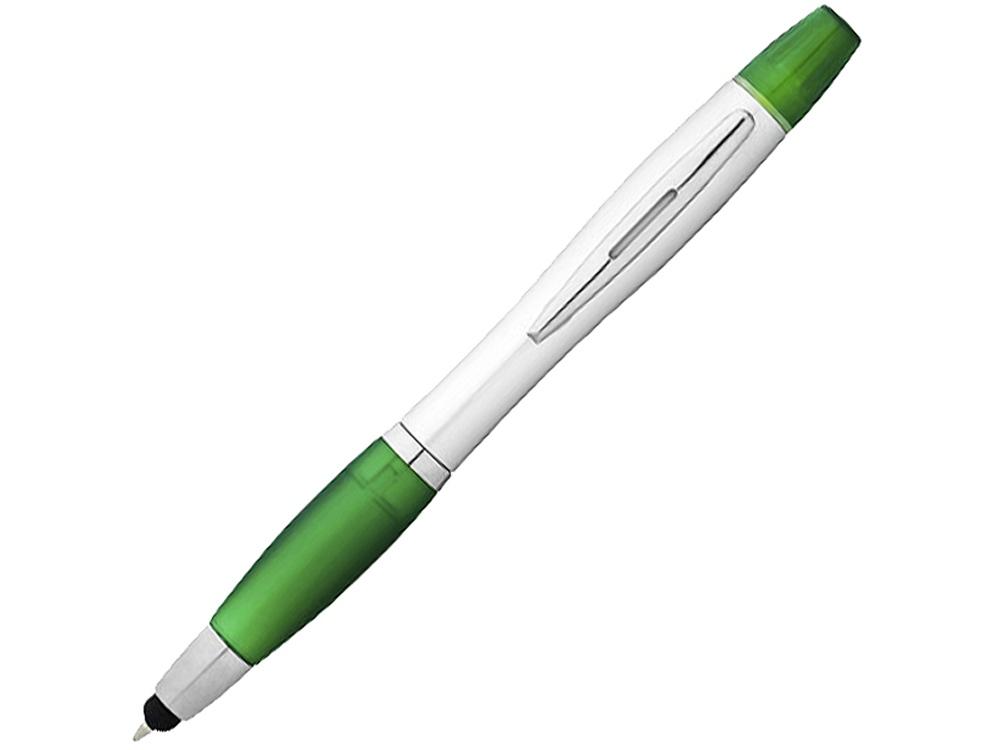 Ручка-стилус Nash с маркером, зеленый/серебристый