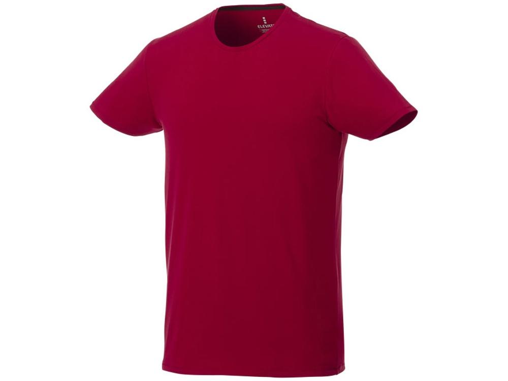 Мужская футболка Balfour с коротким рукавом из органического материала, красный