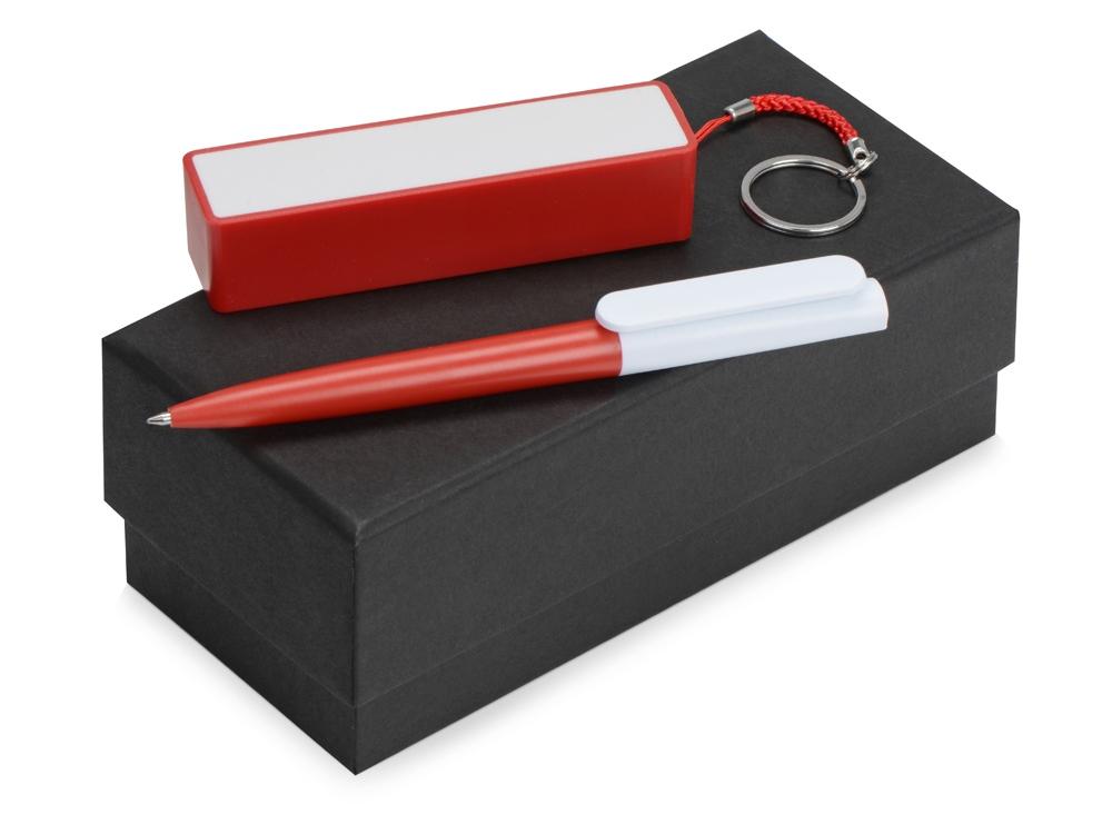 Подарочный набор Essentials Umbo с ручкой и зарядным устройством, красный