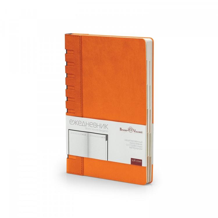 Ежедневник недатированный с индексами А5 Bergamo, оранжевый