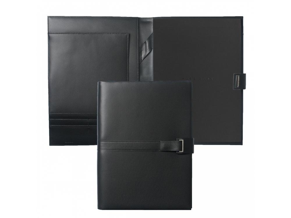 Папка с бумажным блоком А4 Pure Matte. Hugo Boss, черный