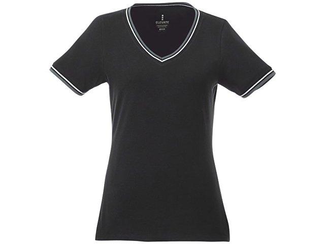 Женская футболка Elbert с коротким рукавом, черный/серый меланж/белый