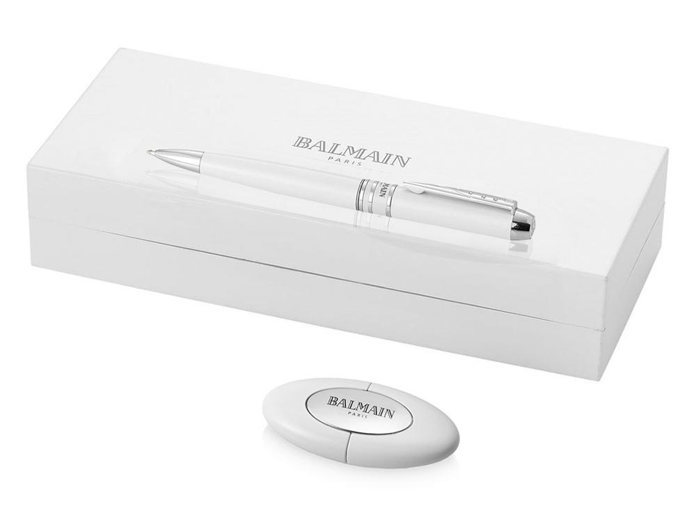 Подарочный набор Maud: ручка шариковая, флешка, белый