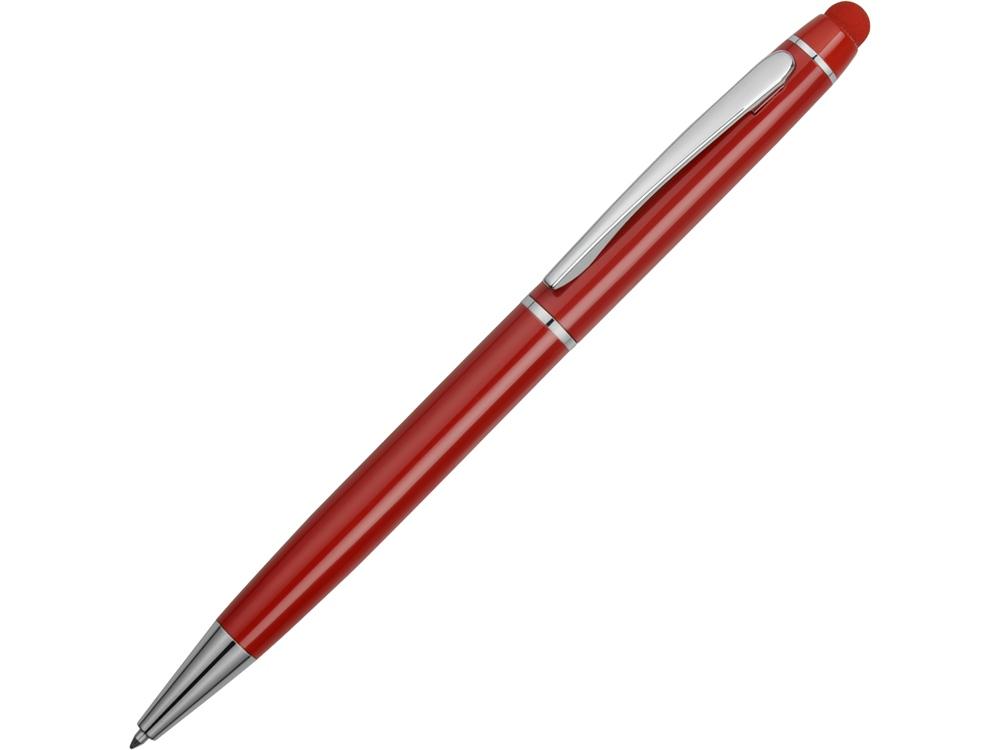 Ручка шариковая Эмма со стилусом, красный