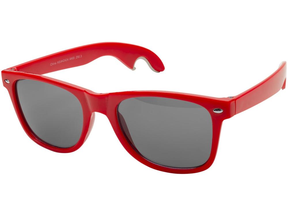 Солнцезащитные очки-открывашка, красный