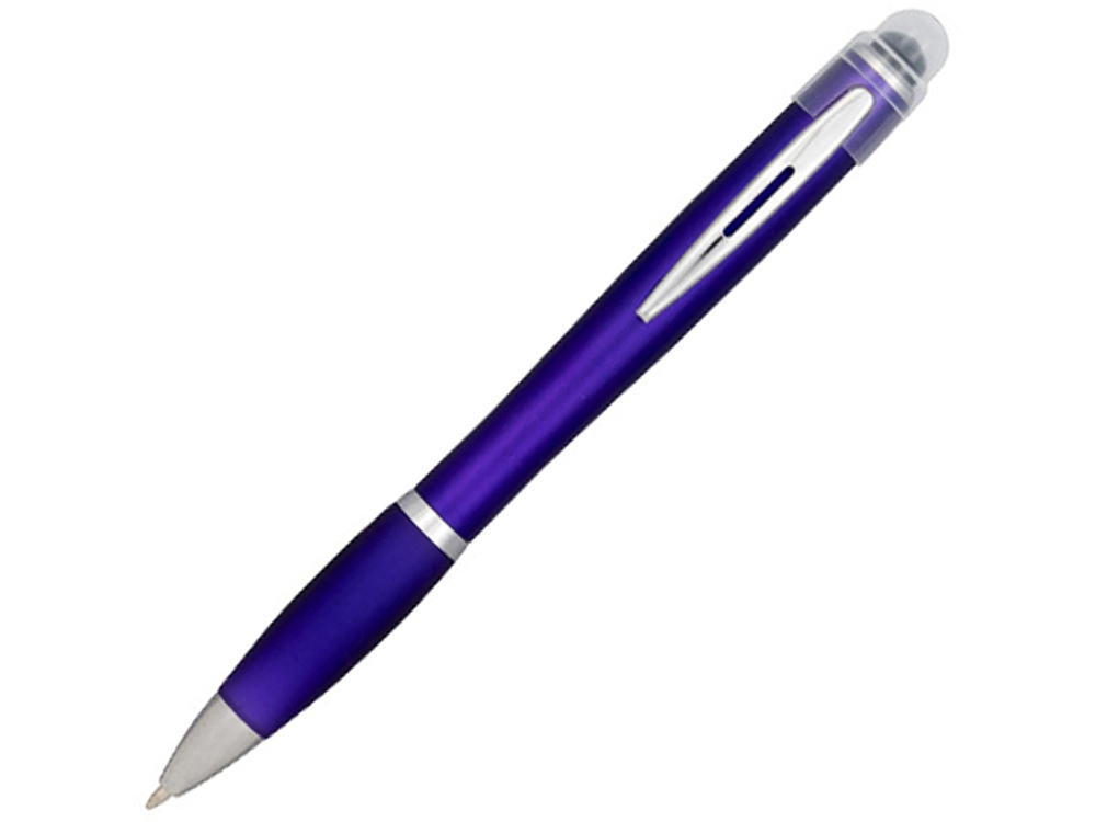 Ручка цветная светящаяся Nash, пурпурный