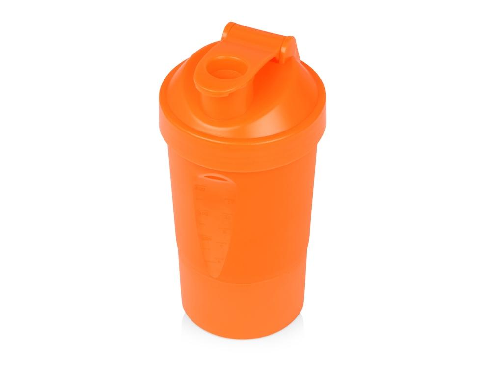 Шейкер для спортивного питания Level Up, оранжевый